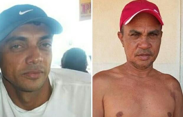 Manoel Anchieta e Francisco Antônio, os pescadores desaparecidos (Foto: Divulgação/Colônia de Pescadores de Areia Branca)