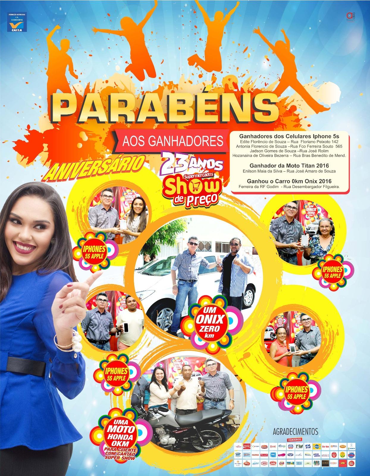 0 GANHDIORES SHOW DE PREÇO
