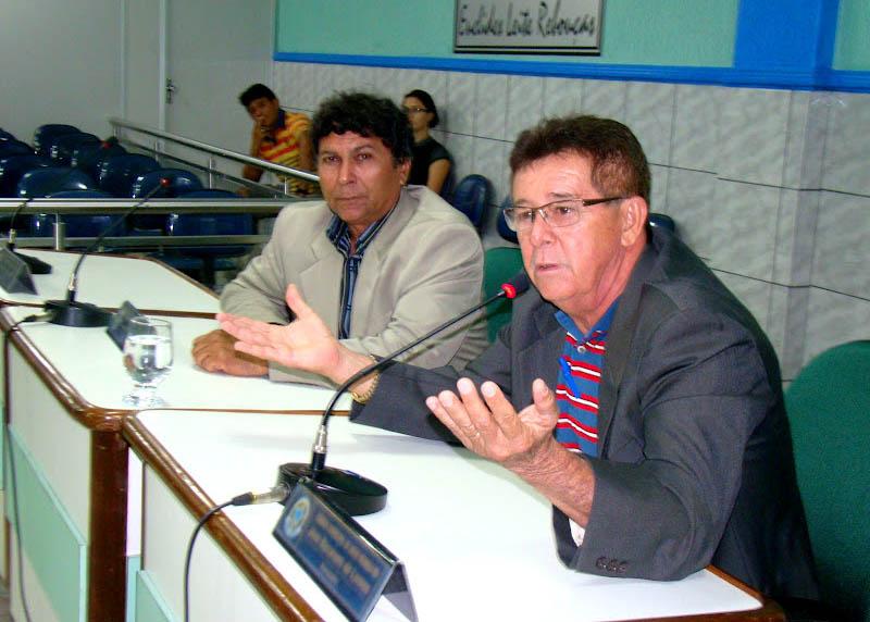 Alderi (à esq.) e Nazareno são os veteranos no Legislativo (Foto: Jailton Rodrigues)