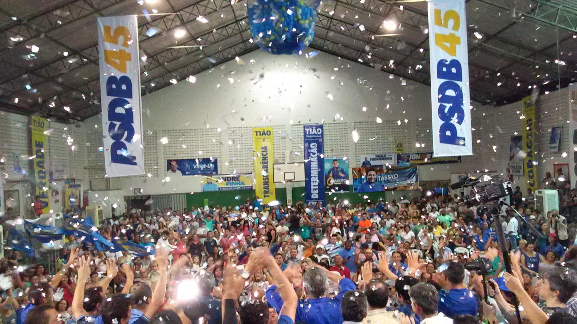 Convencionais lotaram o Ginásio de Esportes do CEAMO