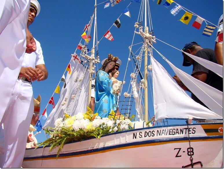 Retorno da imagem peregrina marca início dos festejos (Foto: Reprodução)