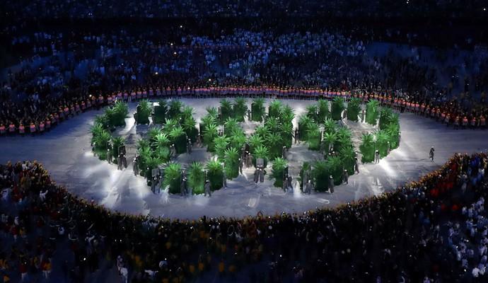 Cerimônia de abertura Olimpíada (Foto Reuters)