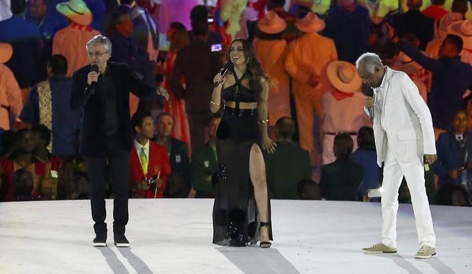 Caetano, Anitta e Gil também deram show (Foto: Reuters)