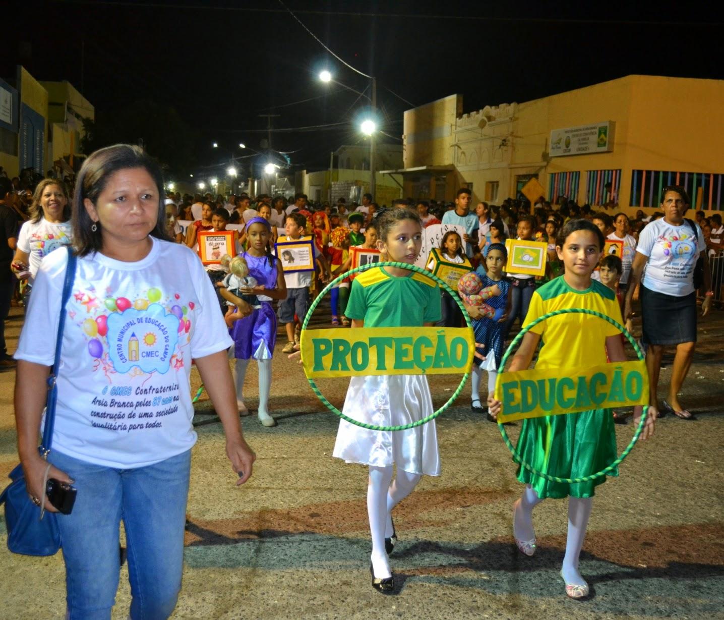Desfile cívico é o ponto alto das comemorações do aniversário da cidade (Foto: Arquivo/Erivan Silva)