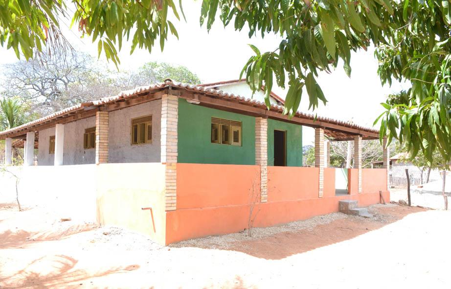 Casa em São José, onde foi instalada a Unidade de Saúde da Família