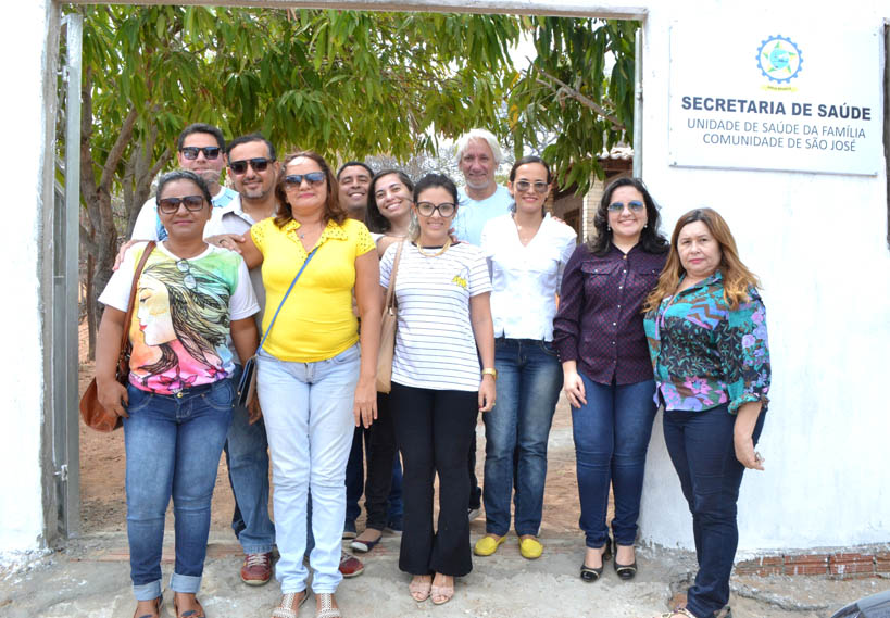Equipes do PSF e Saúde Bucal que vão atuar na unidade