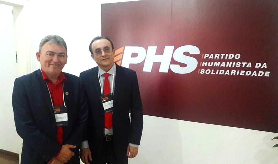 Leandro Prudêncio e Souza representaram o PHS potiguar no evento
