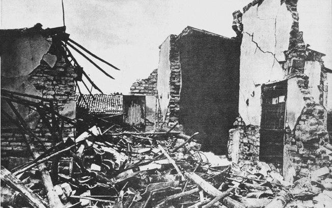 Terremoto em 1986 devastou a cidade (Foto: Reprodução)