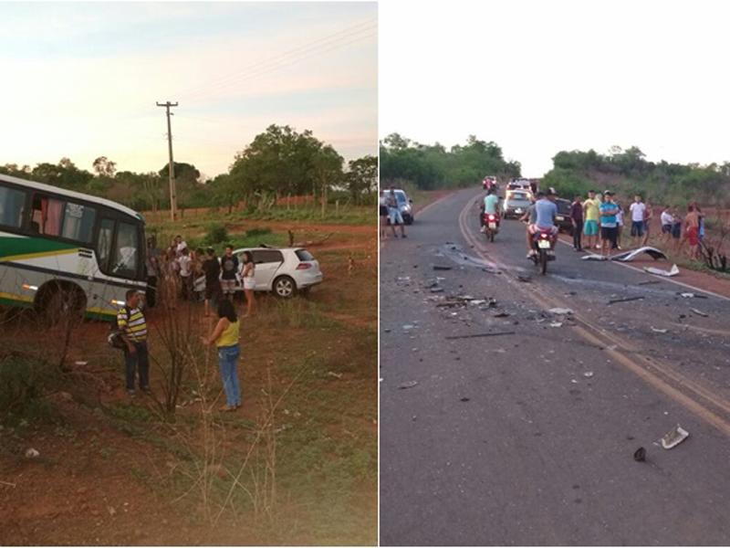 Carro de Chico Borges se chocou com um ônibus (Foto: Reprodução)