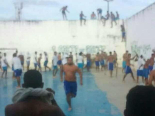 Familiares afirmam que presos do Sindicato do Crime estão sendo atacados por integrantes da facção PCC (Foto: Divulgação/PMRN)
