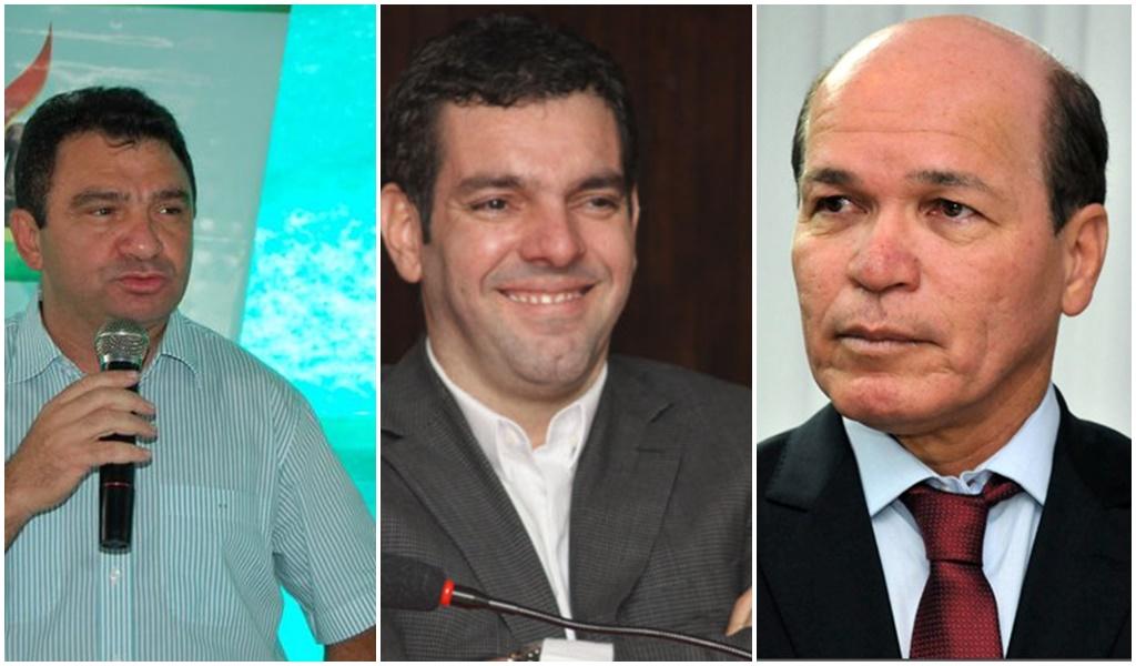 Os denunciados Flávio Veras, Alex Padang e Júnior Grafith (Foto: Reprodução)