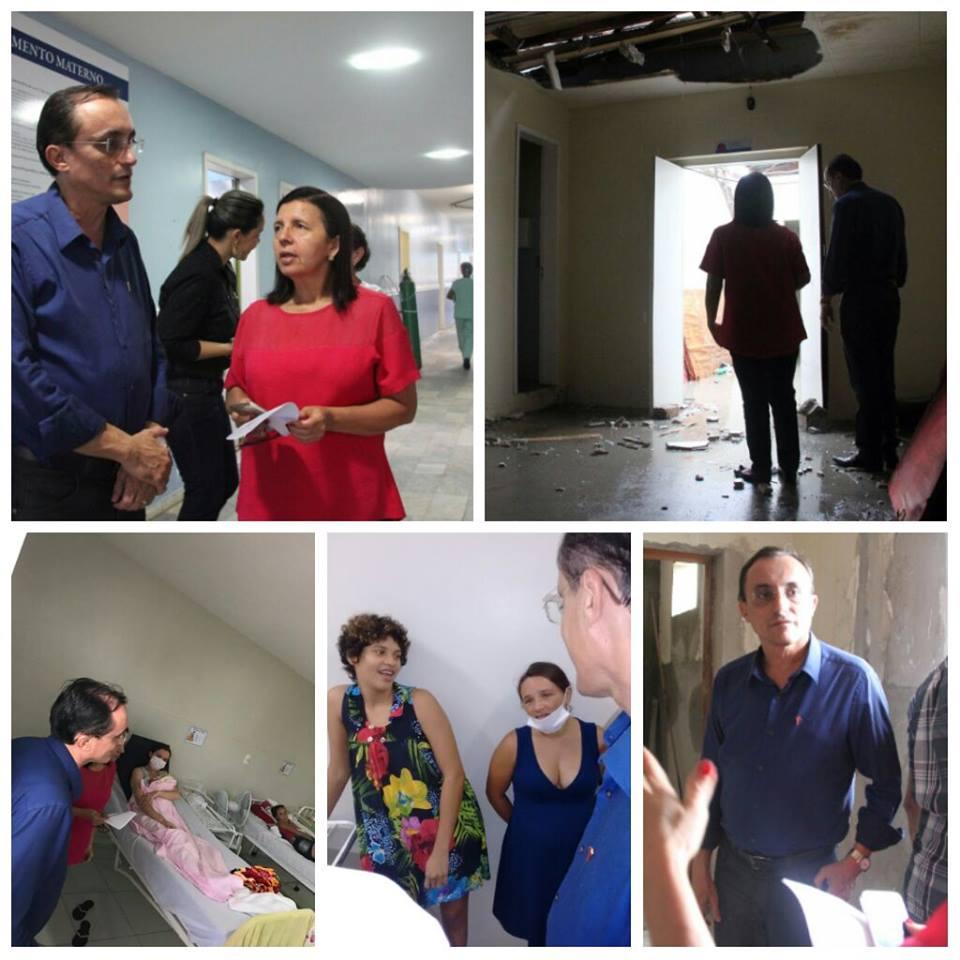 Souza viu instalações em obras e conversou com funcionários e pacientes do HMAC