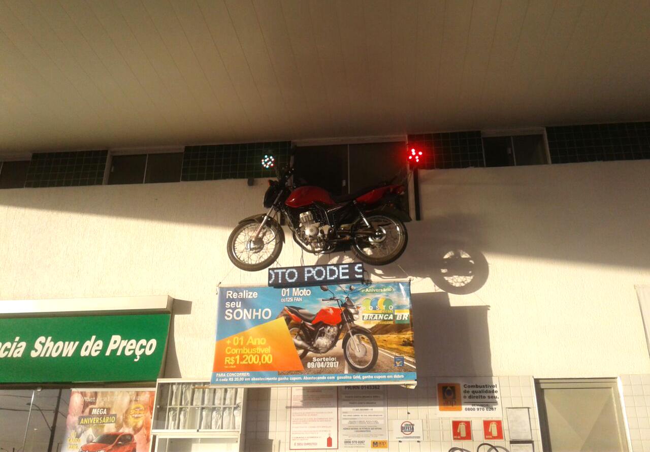 Entre os prêmios, posto vai sortear com seus clientes  uma moto Honda Fan 125cc