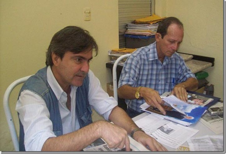 Presidente da Ricardo Ponzi com Francisco Ventura (Foto:  Arquivo)