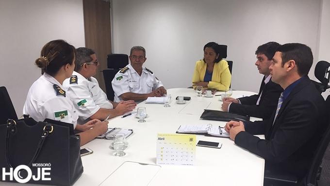 No encontro foi discutida a reabertura da unidade hospitalar (Foto: Reprodução/Mossoró Hoje)