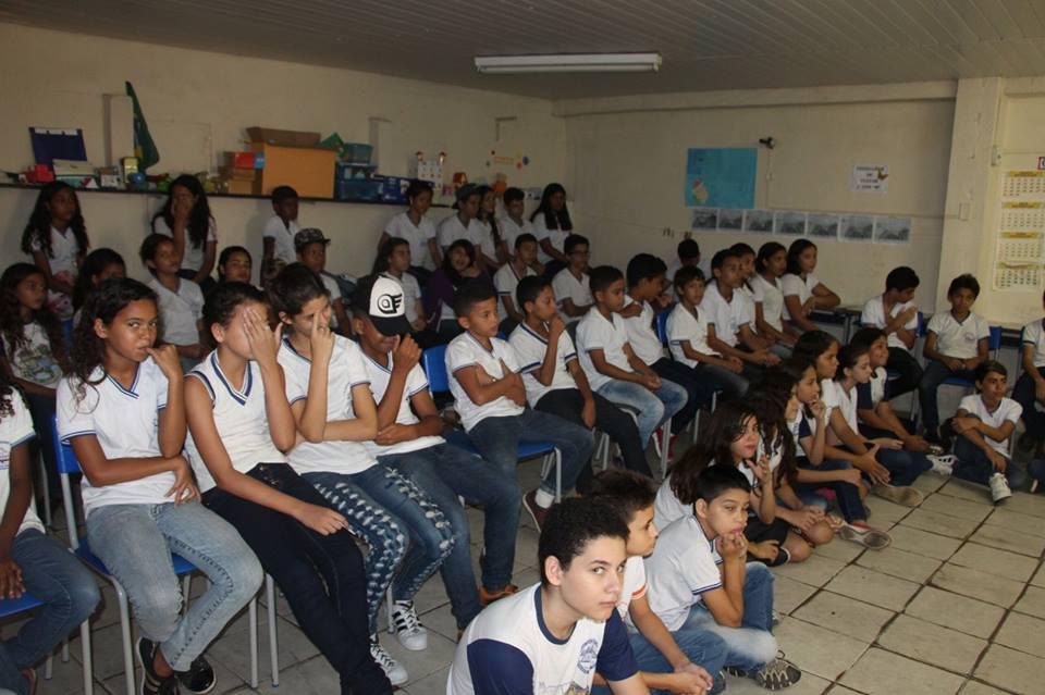 Atividades nas escolas marcaram a semana de mobilização no município (Foto: Genilson Fernandes)